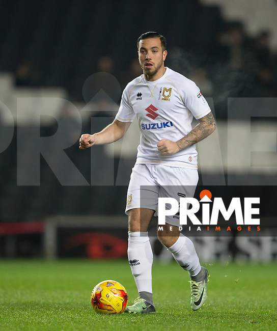 Samir Carruthers of Milton Keynes Dons during the Sky Bet League 1 match between MK Dons and Chesterfield at stadium:mk, Milton Keynes, England on 22 November 2016. Photo by Andy Rowland.