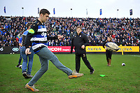 A general view of half-time entertainment courtesy of Bath Ales. Aviva Premiership match, between Bath Rugby and Worcester Warriors on December 27, 2015 at the Recreation Ground in Bath, England. Photo by: Patrick Khachfe / Onside Images