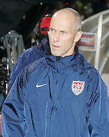 Coach Bob Bradley of the USA during a 2010 World Cup qualifying match in the CONCACAF region against Costa Rica at RFK Stadium on October 14 2009, in Washington D.C.The match ended in a 2-2 tie.