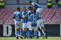Esultanza Gol Kalidou Koulibaly Napoli 3-0 Goal celebration  <br /> Napoli 01-10-2017 Stadio San Paolo Football Calcio Serie A 2017/2018 Napoli - Cagliari  <br /> Foto Andrea Staccioli / Insidefoto