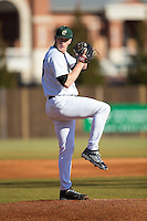 Charlotte 49ers starting pitcher Sean Geoghegan (24) in action against the Rice Owls at Hayes Stadium on March 6, 2015 in Charlotte, North Carolina.  The Owls defeated the 49ers 4-2.  (Brian Westerholt/Four Seam Images)