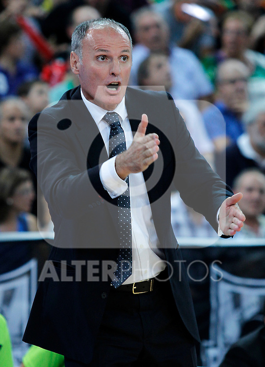 Caja Laboral's coach Dusko Ivanovic during Supercopa ACB Semifinal match.September 30,2011. (ALTERPHOTOS/Acero)