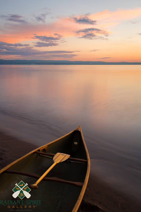 &quot;Superior Paddle&quot;<br /> The Great Lake Superior is often unfriendly to canoes and kayaks and even larger vessels. However, she can also paint a paddling paradise on a peaceful summer morning.<br /> <br /> This photograph is from our Canoescapes Series.
