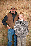 Families gather after Christmas at the Cuneo Ranch in California's Mother Lode--Frank and his son Ty