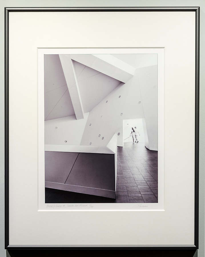 """Framed Size 20""""h x 16""""w, $335<br /> Graphite Nielsen 15 metal frame<br /> with 8-ply mat"""