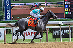 July 25, 2020: Spanish Point, ridden by John Velazquez, trained by Jorge Abreu in the 4th race on Stakes on Alfred G Vanderbilt  Day at Saratoga Race Course in Saratoga Springs, New York. Rob Simmons/Eclipse Sportswire/CSM