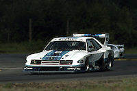 BRAINERD, MN - JULY 11: Rick Mears drives the Team Zakspeed Roush Ford Mustang Turbo during the Pepsi Grand Prix IMSA GT race at the Brainerd International Raceway near Brainerd, Minnesota, on July 11, 1982.