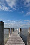 Steg, Pier, Podersdorf, Seewinkel, Bezirk Neusiedl am See, Burgenland, Austria, Österreich