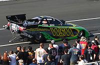 Feb 13, 2016; Pomona, CA, USA; NHRA funny car driver Chad Head during the Winternationals at Auto Club Raceway at Pomona. Mandatory Credit: Mark J. Rebilas-USA TODAY Sports
