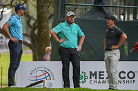 Henrik Stenson (SWE), Shane Lowry (IRL), and Thorbjorn Olesen (DEN) share a laugh as they wait to tee off on 7 during round 3 of the World Golf Championships, Mexico, Club De Golf Chapultepec, Mexico City, Mexico. 2/23/2019.<br /> Picture: Golffile | Ken Murray<br /> <br /> <br /> All photo usage must carry mandatory copyright credit (© Golffile | Ken Murray)