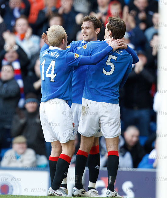Nikica Jelavic celebrates his goal