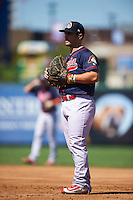 Peoria Chiefs first baseman Chris Chinea (12) during the second game of a doubleheader against the South Bend Cubs on July 25, 2016 at Four Winds Field in South Bend, Indiana.  South Bend defeated Peoria 9-2.  (Mike Janes/Four Seam Images)