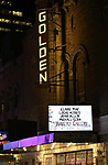 "Theatre Marquee for the Opening Night of Kenneth Lonergan's ""The Waverly Gallery"" starring Elaine May, Lucas Hedges, Joan Allen, Michael Cera and David Cromer at the Golden Theatre on October 25, 2018 in New York City."