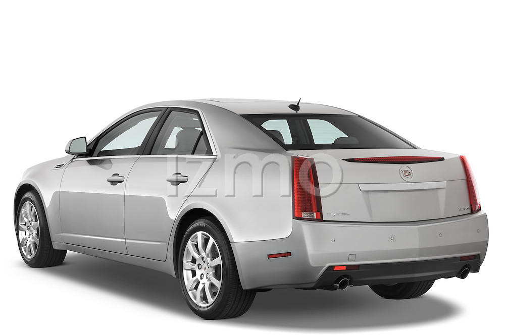 Rear three quarter view of a 2008 Cadillac CTS sedan