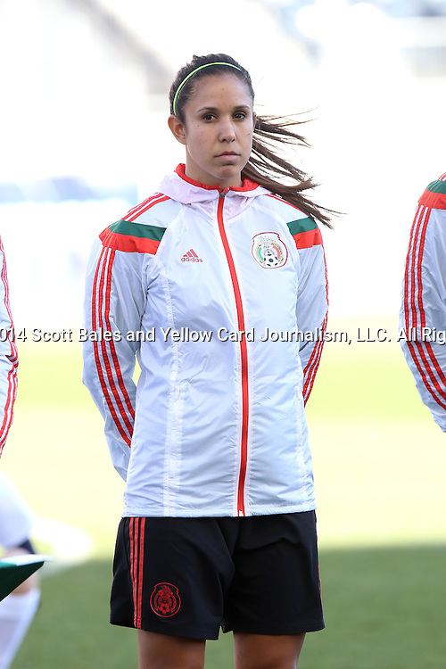 26 October 2014: Bianca Sierra (MEX). The Trinidad & Tobago Women's National Team played the Mexico Women's National Team at PPL Park in Chester, Pennsylvania in the 2014 CONCACAF Women's Championship Third Place game. Mexico won the game 4-2 after extra time. With the win, Mexico qualified for next year's Women's World Cup in Canada and Trinidad & Tobago face playoff for spot against Ecuador.