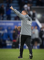 Leicester City manager Brendan Rodgers at full time during the Premier League match between Leicester City and Newcastle United at the King Power Stadium, Leicester, England on 29 September 2019. Photo by Andy Rowland.