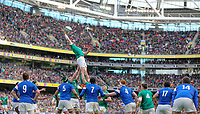 Sunday10th March 2019 | Ireland vs France<br /> <br /> A finger tip take by Peter O&rsquo;Mahony during the Guinness 6 Nations clash between Ireland and France at the Aviva Stadium, Lansdowne Road, Dublin, Ireland. Photo by John Dickson / DICKSONDIGITAL