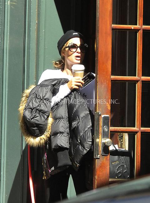 WWW.ACEPIXS.COM<br /> <br /> April 29 2015, New York City<br /> <br /> Paris Hilton comes over shy as she walks in the West Village on April 29 2015 in New York City<br /> <br /> Please byline: Curtis Means/ACE Pictures<br /> <br /> ACE Pictures, Inc.<br /> www.acepixs.com, Email: info@acepixs.com<br /> Tel: 646 769 0430
