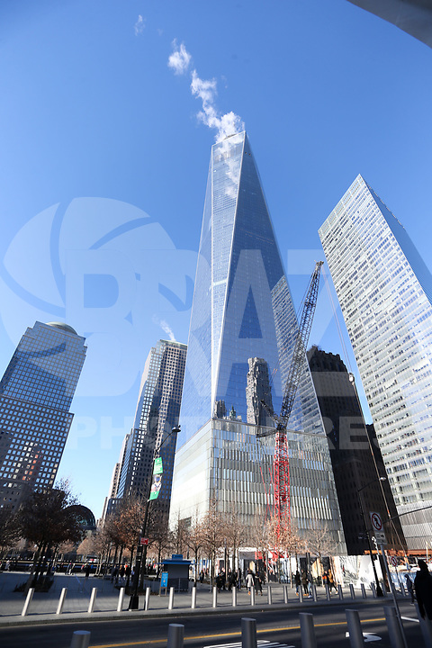 NOVA YORK, EUA, 14.01.2019 - TURISMO-EUA - Vista do One World Trade Center na Ilha de Manhattan na cidade de New York nos Estados Unidos nesta segunda-feira, 14. (Foto: William Volcov/Brazil Photo Press)