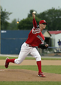 July 4, 2004:  Pitcher Kyle Kendrick of the Batavia Muckdogs, Short-Season Single-A affiliate of the Philadelphia Phillies, during a game at Dwyer Stadium in Batavia, NY.  Photo by:  Mike Janes/Four Seam Images