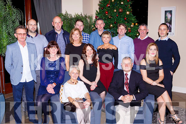 Liam and Phil Lynch with the staff from Lynchs garage Farranfore at their Christmas party in the Brehon Hotel on Friday night