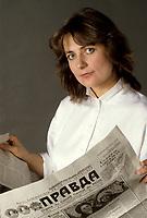 EXCLUSIVE FILE PHOTO :   Nathalie Petrowski<br /> , circa 1985<br /> <br /> <br /> PHOTO : Harold Beaulieu<br />  - Agence Quebec Presse