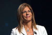 Emma Marcegaglia, Presidente di Confindustria, all'Hangar Bicocca. Milano, 11 ottobre 2011...Emma Marcegaglia, President of Confindustria, at Biccocca Hangar. Milan, September 11, 2011