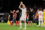 England's Harry Maguire celebrates the victory during UEFA Nations League 2019 match between Spain and England at Benito Villamarin stadium in Sevilla, Spain. October 15, 2018. (ALTERPHOTOS/A. Perez Meca)
