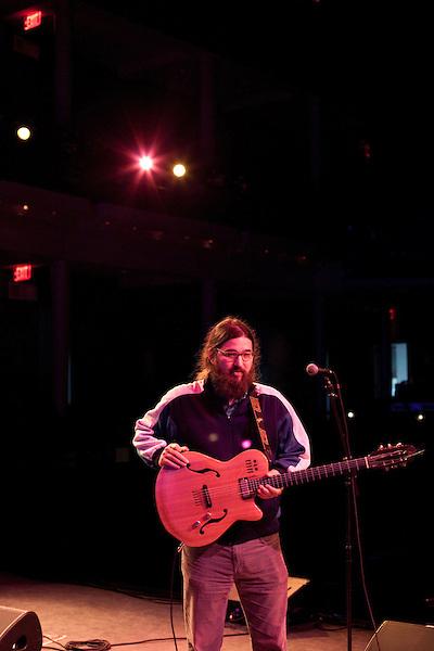 "September 6, 2012. Raleigh, North Carolina.. Rehearsal for Matthew E. White's ""One Incantation Under God"".."