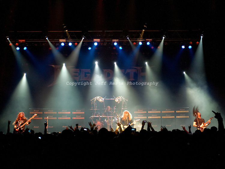 Megadeth live concert at the Palladium Ballroom on December 12, 2009 in Dallas, TX.