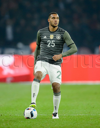 26.03.2016. Olympiastadion Berlin, Berlin, Germany.  Germany's Jonathan Tah in action during the international friendly soccer match between Germany and England at the Olympiastadion
