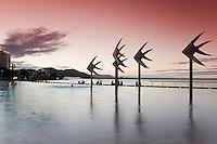 The Esplanade Lagoon at dusk.  Cairns, Queensland, Australia