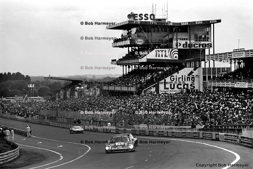 LE MANS, FRANCE: The Bob Akin Motor Racing Porsche 935L-1 of Bob Akin, Dave Cowart and Kenper Miller being driven before running out of fuel early in the 24 Hours of Le Mans on June 20, 1982, at Circuit de la Sarthe in Le Mans, France.
