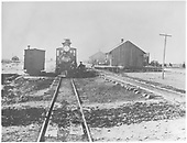 Head-on view of D&amp;RG #267 posing with her crew at the Montrose depot.<br /> D&amp;RG  Montrose, CO  ca. 1885