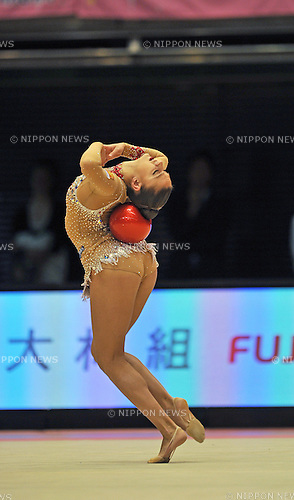Evgeniya Kanaeva (RUS), OCTOBER 30, 2010 - Rhythmic Gymnastics : AEON CUP 2011 Worldwide R.G. Club Championships at Tokyo Metropolitan Gymnasium in Tokyo, Japan. (Photo by AFLO)