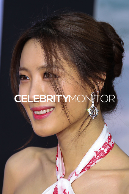 """HOLLYWOOD, LOS ANGELES, CA, USA - MARCH 13: Claudia Kim at the World Premiere Of Marvel's """"Captain America: The Winter Soldier"""" held at the El Capitan Theatre on March 13, 2014 in Hollywood, Los Angeles, California, United States. (Photo by Xavier Collin/Celebrity Monitor)"""