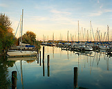 AUSTRIA, Weiden Am See, sunset at the Seepark Marina, Burgenland