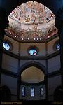 Brunelleschi Dome Drum Interior Frescoes over Altar Giorgio Vasari Federico Zuccari Santa Maria del Fiore Florence