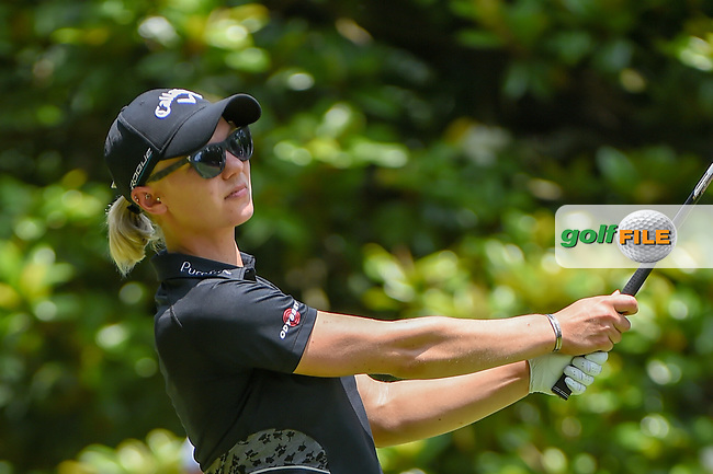 Madelene Sagstrom (SWE) watches her tee shot on 3 during round 4 of the U.S. Women's Open Championship, Shoal Creek Country Club, at Birmingham, Alabama, USA. 6/3/2018.<br /> Picture: Golffile   Ken Murray<br /> <br /> All photo usage must carry mandatory copyright credit (© Golffile   Ken Murray)
