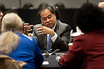 A. Gabriel Esteban, Ph.D., president of DePaul University, discusses topics of diversity at the annual Diversity Forum, Tuesday, April 30, 2019 in the Lincoln Park Student Center. (DePaul University/Jeff Carrion)