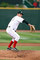 June 17th 2008:  Joseph Krebs of the Dayton Dragons, Class-A affiliate of the Cincinnati Reds, during the Midwest League All-Star Game at Dow Diamond in Midland, MI.  Photo by:  Mike Janes/Four Seam Images