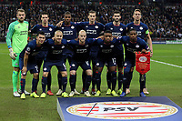 PSV Eindhoven line up before Tottenham Hotspur vs PSV Eindhoven, UEFA Champions League Football at Wembley Stadium on 6th November 2018