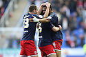 Darius Charles of Stevenage (r) celebrates with team-mates  after scoring the winning goal.Reading v Stevenage - FA Cup 3rd Round - Madejski Stadium,.Reading - 7th January, 2012.© Kevin Coleman 2012