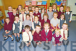 Pictured during their first days at school in Fossa National school, Killarney on Thursday were Philip Lyons, Conor McGough, Grace Myers, Sam Lenihan, Jack Cronin, Sadhbh O'Leary, Emma Griffin, Abigail Murphy, Orla Driver, Tara Murphy, Erin Myers, Eilisha Cummins, Christopher Doody, Scott Carlton, Billy O'Sullivan, Gavin O'Leary, Aaron Coffey, Melissa Ahern, Finn Kennelly, Olivia Gaffey, Matthew Counihan, Rachel Wallace, Ava O'Neill, Aimee Coffey and Luke Murphy.