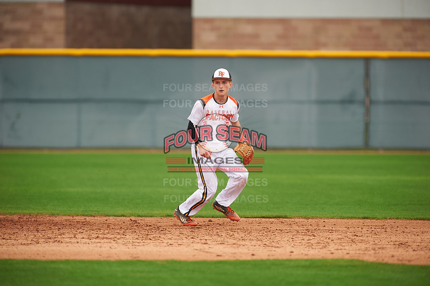 Nate Smolinski (3) of The Bishop's High School in La Jolla, California during the Under Armour All-American Pre-Season Tournament presented by Baseball Factory on January 15, 2017 at Sloan Park in Mesa, Arizona.  (Zac Lucy/MJP/Four Seam Images)