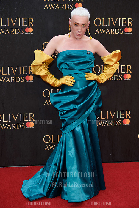 Jamie Campbell arriving for the Olivier Awards 2018 at the Royal Albert Hall, London, UK. <br /> 08 April  2018<br /> Picture: Steve Vas/Featureflash/SilverHub 0208 004 5359 sales@silverhubmedia.com