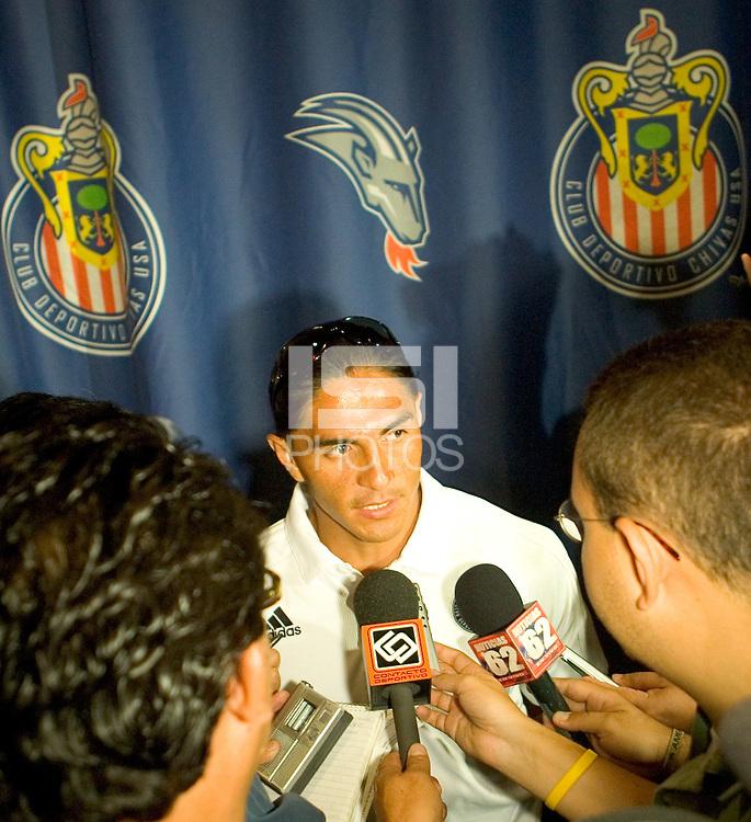 Juan Francisco 'Paco' Palencia of CD Chivas USA at Press Conference promoting the FC Barcelona match against Chivas de Guadalajara at the Ritz Carlton in Marina Del Rey, California, Friday August 4, 2006.