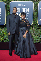 Nominated for BEST PERFORMANCE BY AN ACTOR IN A MOTION PICTURE &ndash; DRAMA for his role in &quot;Roman J. Israel, Esq.,&quot; actor Denzel Washington and Pauletta Washington arrive at the 75th Annual Golden Globe Awards at the Beverly Hilton in Beverly Hills, CA on Sunday, January 7, 2018.<br /> *Editorial Use Only*<br /> CAP/PLF/HFPA<br /> &copy;HFPA/PLF/Capital Pictures