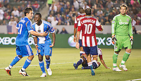 CARSON, CA - April 21, 2012: Philadelphia Union midfielder Freddy Adu (11) celebrates his goal during the Chivas USA vs Philadelphia Union match at the Home Depot Center in Carson, California. Final score Philadelphia Union 1, Chivas USA 0.