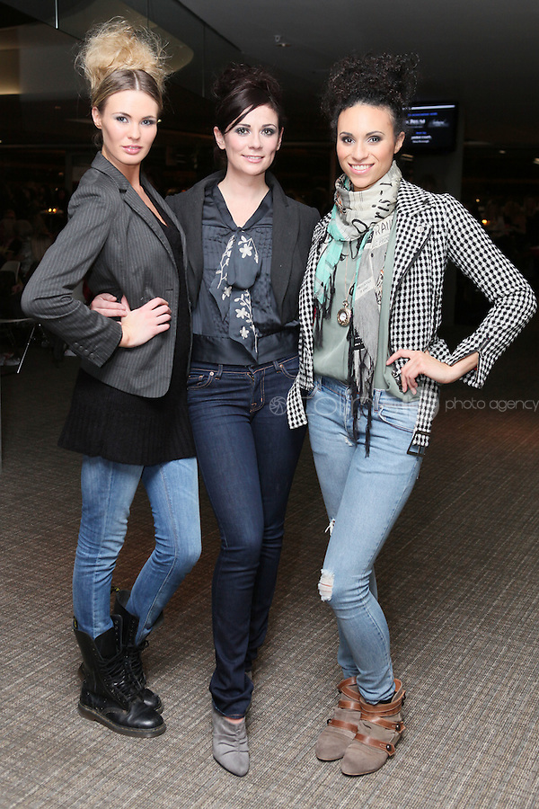 NO FEE 14/10/2010.  Bóthar's Rugby Rocks Fashion.  Sohaila Lindheim, Michelle Meany and Rachel O Kokora are pictured at Bóthar's Rugby Rocks Fashion fundraising event at the Aviva Stadium in Dublin on Thursday night were {insert names here}. All proceeds from the event go towards Bóthar's projects in Pakistan. To find out more about Bóthar's work in Pakistan or in any of the 35 project countries Bóthar works in, lo-call 1850 82 99 99 or visit www.bothar.org. Picture James Horan/Colllins Photos